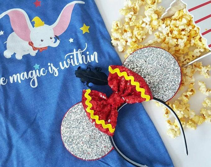 Dumbo Mouse Ears Headband | Minnie Mouse Birthday |Dumbo Headband Minnie Ears | Dumbo Mouse Ears| Big Top Mouse Ears | Circus Ears