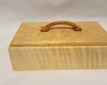 Wood Box, Curly Maple and Canary