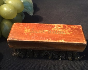 M005 Wood ,bristle, suede , brush,