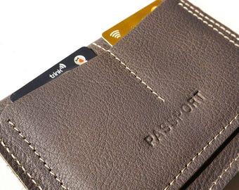 Passport case/leather wallet/passport cover/travel wallet/passport holder/travel gift/personalized gift/groomsmen gift/leather passport case