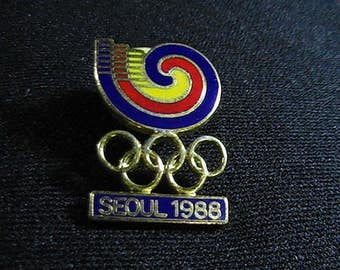 Vintage 1988 Seoul Olympic Pin, Olympic Collectible, Olympics Souvenir Pin, Lapel Pin, Olympic Memorabilia
