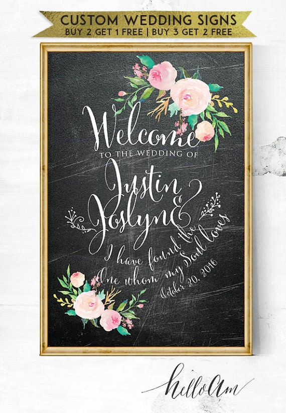 wedding sign - wedding entrance sign - wedding reception - wedding welcome sign - wedding reception - chalkboard wedding sign - rustic sign