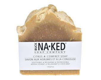 Natural Soap Citrus & Comfrey Soap - Soap, Vegan Soap, Handcrafted Soap, Herbal Soap, Cold Process Soap, Gift Soap, Glycerin Soap, Citrus