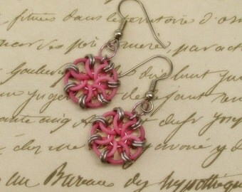 Earrings, Pinwheel, Choose Your Color