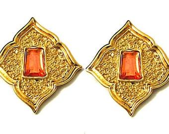 JEAN LOUIS SCHERRER, beautiful earrings triangular.
