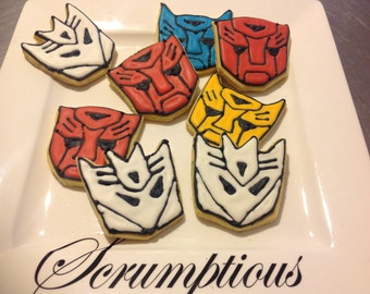 12 Transformer,  Decepticon iced cookies.