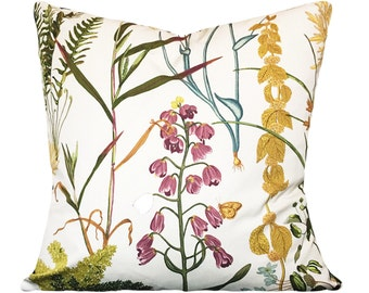 Braemore Floral Decorative Pillow Cover - Throw Pillow - Both Sides - 12x16, 12x20, 14x18, 14x24, 16x16, 18x18, 20x20, 22x22, 24x24