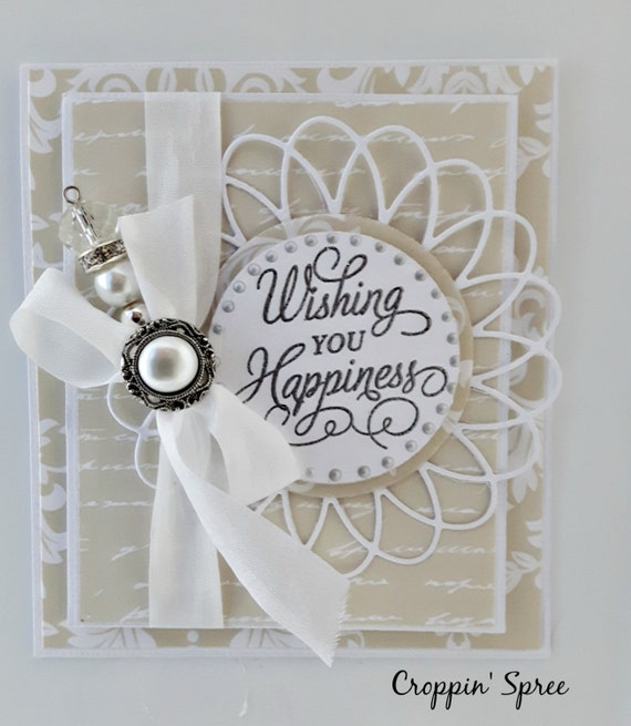 Handmade Greeting Card. Wishing You Happiness