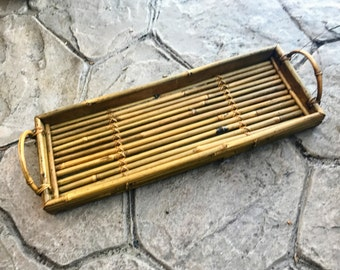 Bamboo Reed Decorative Serving Tray