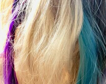 Mermaid Hair Extensions Colorful Hair Extensions Clip In Mermaid Hair