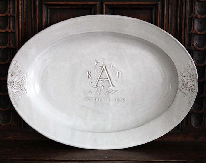 Monogrammed Oval Platter