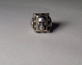 Mexican Biker Skull Ring Vintage Type Size 8