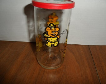 Vintage Kraft Muppet Babies Jelly Jars_Character Glass-Lot of 2