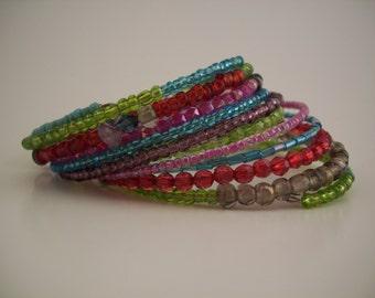 Boho style coil bracelet