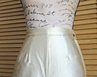 Vintage. Gold. shorts. David David. High waisted. Gold/metalic. 1960s/1970s. Disco!