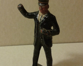 vintage conductor medal toy