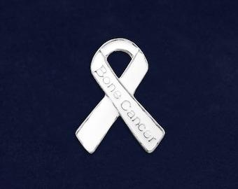 25 Bone Cancer Awareness Pins in Bags (25 Pins) (P-29-15BC)