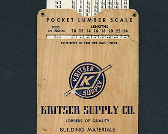 Pocket Lumber Scale, Kritser Supply Co, Amarillo, Texas