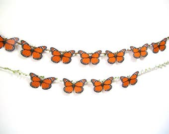 Monarch Butterfly Garland,Wedding Butterfly Garland Backdrop Banner,Bridal Baby Shower decoration,Hanging Butterfly Art,Party Birthday decor