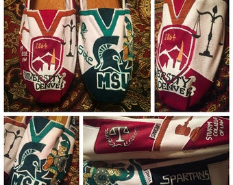 Custom designed and painted Michigan State/University of Denver/MSU/Law Toms! Designed and personalized just for you
