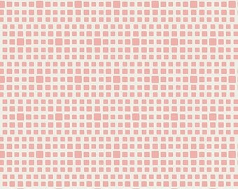 Sale Squared Elements in Rosewater by Pat Bravo Art Gallery Fabrics Premium Cotton Quilting Fabric One Yard