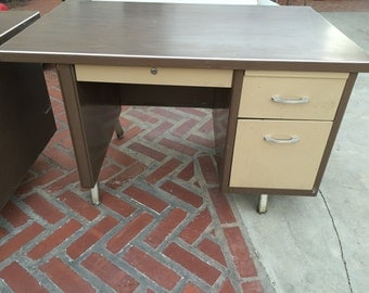 Items Similar To Mcdowell Craig Vintage Steel Tanker Desk Fully Restored On Etsy