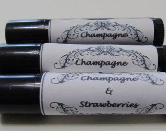 Champagne and Strawberries Flavored Lip Balm
