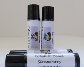 Prince tribute Strawberry Lemonade flavored Lip Balm