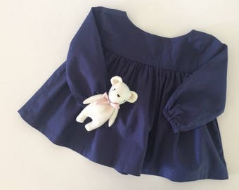 Babydoll Blouse in Midnight Blue