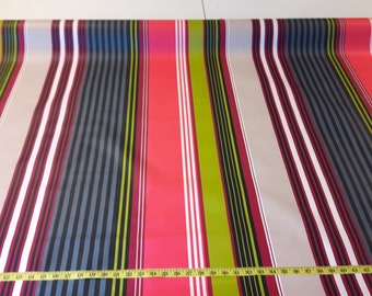 """Striped water resistant table cloth fabric 60"""" wide"""