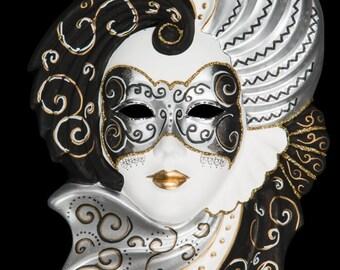 Venetian Mask Silver Clorinda