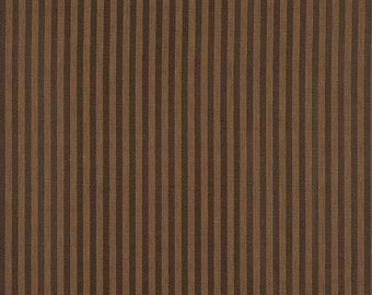 Brown Two Toned Stripe Upholstery Fabric By The Yard   Pattern # A133