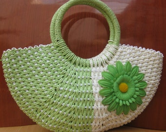 Handbag/jute bag/  boho bag / green bag / purse /tribal bag/ fashion purse/ fashion bag/ gift purse / gift item.