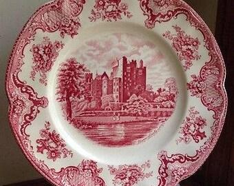 Johnson Brothers Old English Castle Blarney Transferware Plate MINT