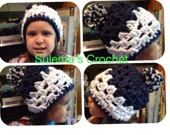 Crochet granny beanie