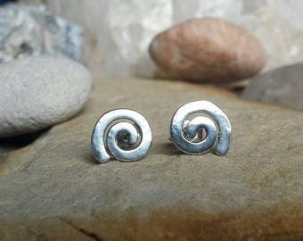 Sterling Silver Spiral stud earrings