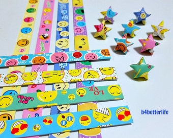 250 strips of DIY Origami Lucky Stars Paper Folding Kit. 26cm x 1.2cm. #P0807. (XT Paper Series).