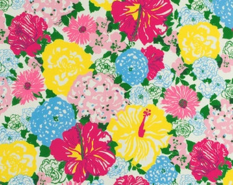 Lilly Pulitzer- OUTDOOR -Heritage Floral- Multi- Fabric By The Yard