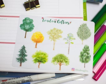 Trees - decorative watercolour planner stickers suitable for any planner -263-
