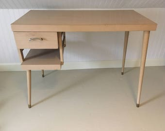 Mid century modern desk 1958 original blonde