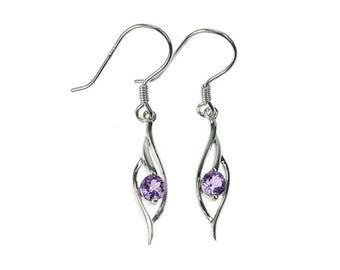 Sterling Silver Amethyst Earrings, Purple Amethyst Earrings, Silver Amethyst Jewellery, Purple Earrings, 925 Silver, UK Seller, Earings