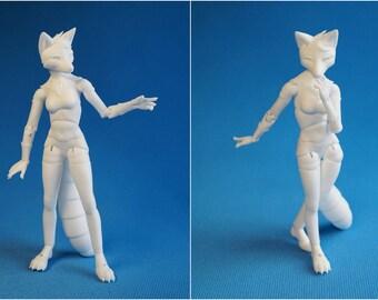 BJD Furry Fox. Height 21 cm.