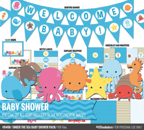 under the sea baby shower package to decor your ocean 39 s baby shower