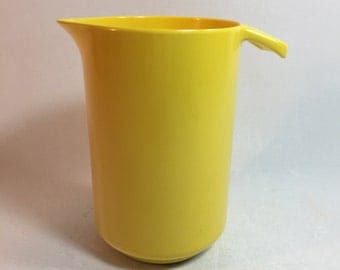 Vintage Bright Yellow Copco 1 Quart Pitcher