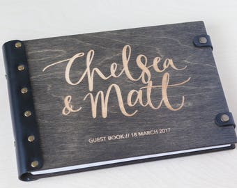 Wedding Guest Book, Guest Book, Wood Guest Book, Custom Guest Book, Guestbook, Wedding Album, Rustic Guest Book, Photo Album, Calligraphy