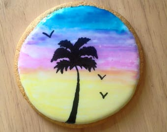 Sunset Painted Sugar Cookies
