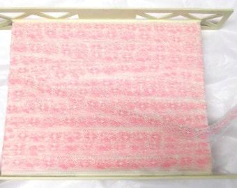 BTY pink white lace trim seam binding Mixed Media scrapbooking fiber arts DIY crafts Sewing supplies edging trims Pastels weddings Spring