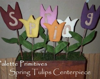 Spring Tulips Centerpiece E-pattern/Instant Download