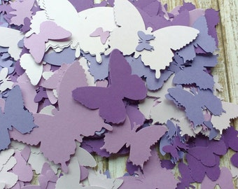 Paper Purple Passions butterflies die cuts wedding decorations, scrapbooking, weddings, mix confetti butterflies (250 cuts)