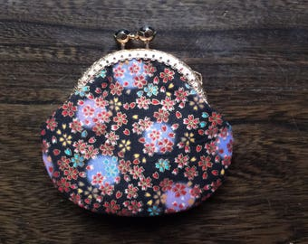Coin Purse,IPHONE 7 Ear Bud Case,  Ear Bud Holder,Coin Case,Small clutch,Small Wallet,Fabric Wallet